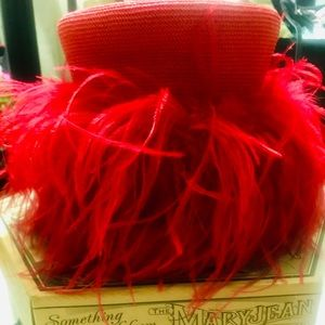 MaryJane Real Ostrich Feathers Hat